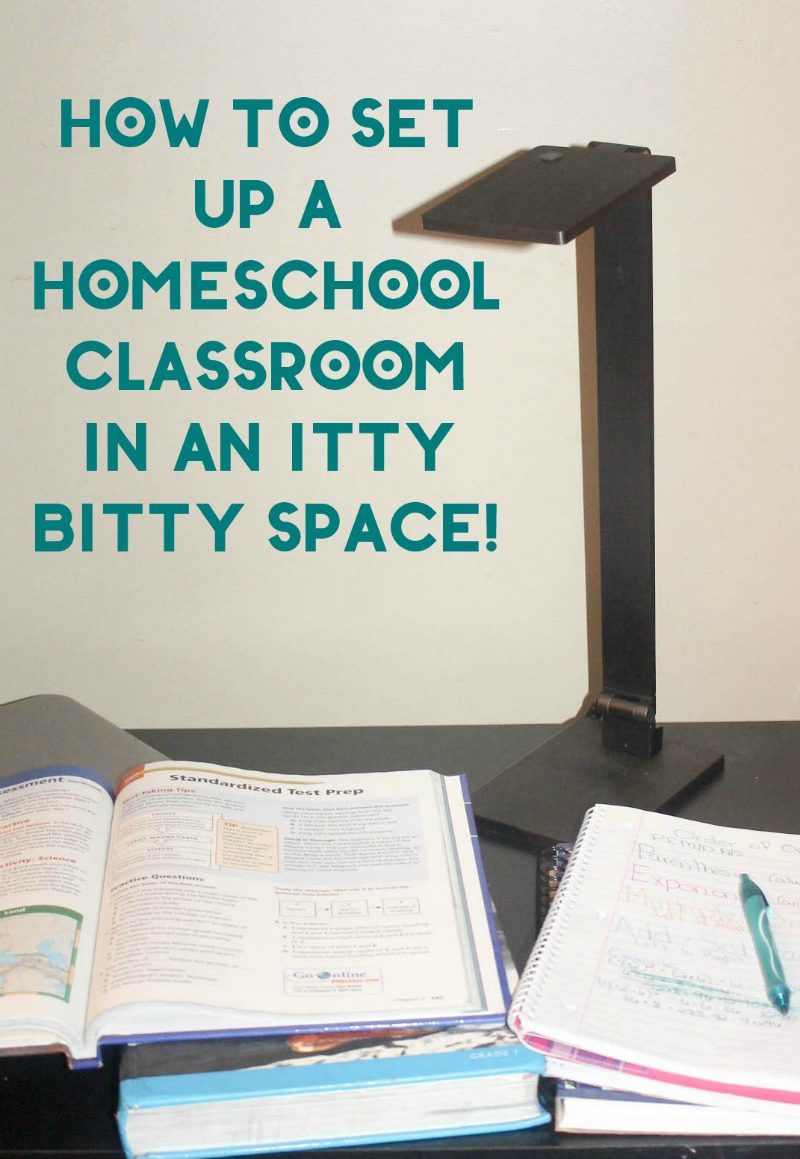 Trying to set up a homeschool classroom when you literally have zero space left in your house is definitely a challenge. However, it doesn't have to be an insurmountable task if you just thinking outside the box (and the books) a bit! Check out how I made an itty bitty corner in my dining room work for my son!