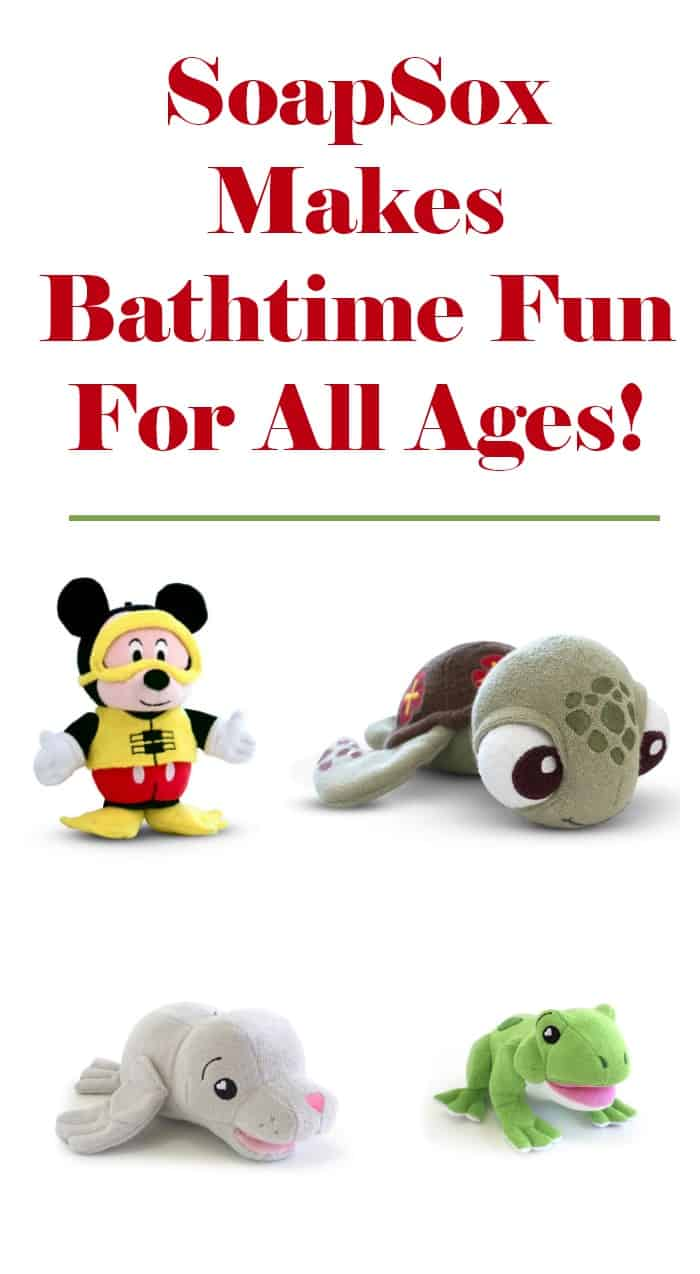 From playtime to bathtime, your little one can celebrate their love of all things Disney all day long with SoapSox!