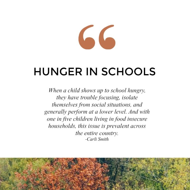 For 13 million children across the United States, hunger is the biggest barrier to their education.