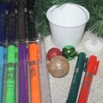 Mess-Free Shimmering Christmas Bucket Craft for Kids