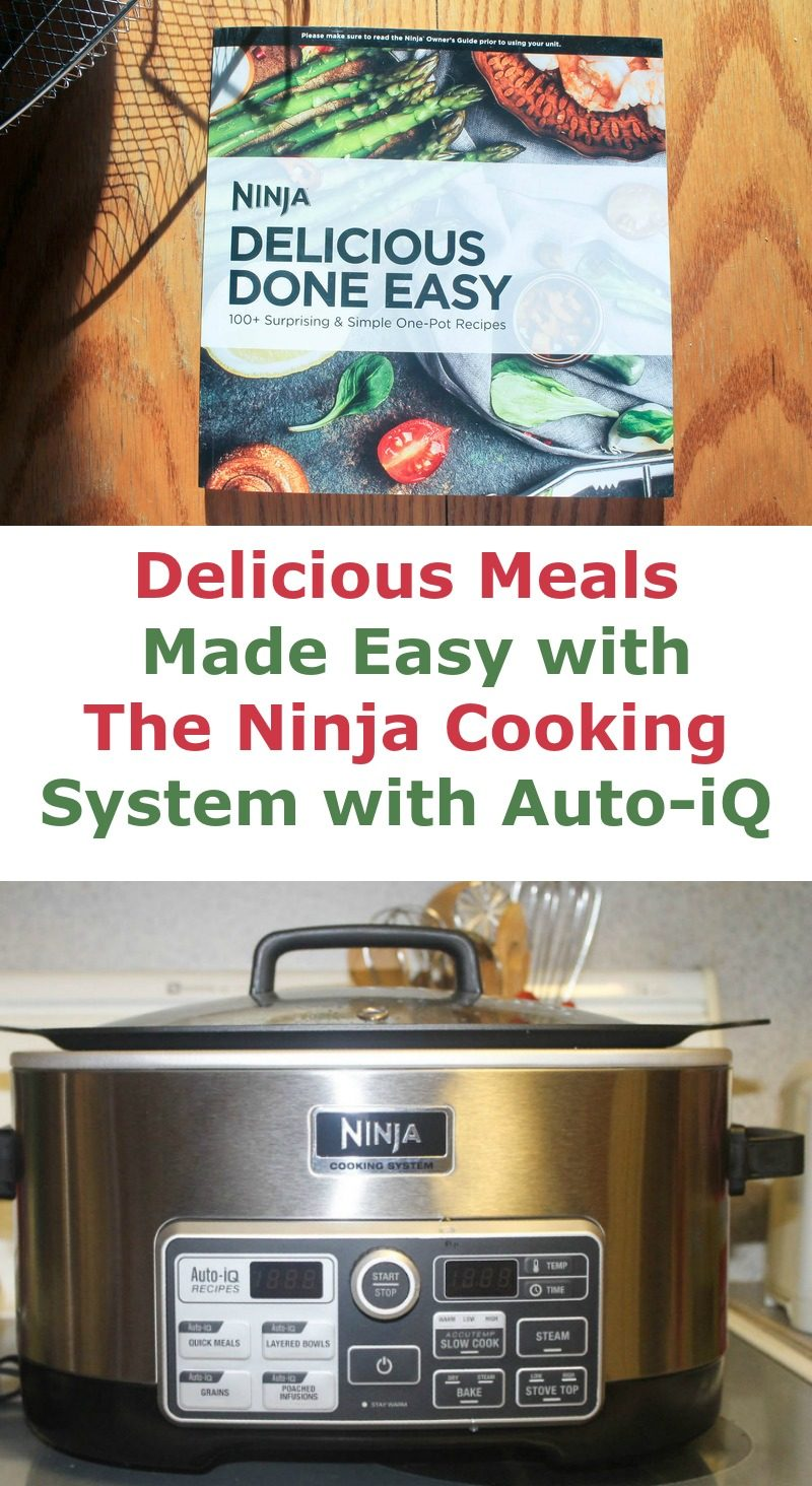 The Ninja Cooking System with Auto-iQ features not one, not two, but FOUR manual cooking functions PLUS it has over 80 pre-programmed recipes that you can put together in just minutes. Let's check out the features and how I've used them so far (and how I plan to use them for years to come)!