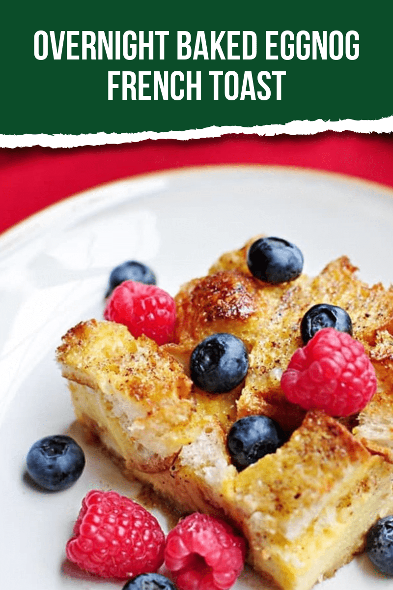 This tasty Christmas breakfast featuring everyone's favorite Holiday drink is the perfect meal after a fun morning of opening gifts. #eggnogrecipes #Christmas #breakfastrecipes #breakfastideas #ChristmasBreakfast