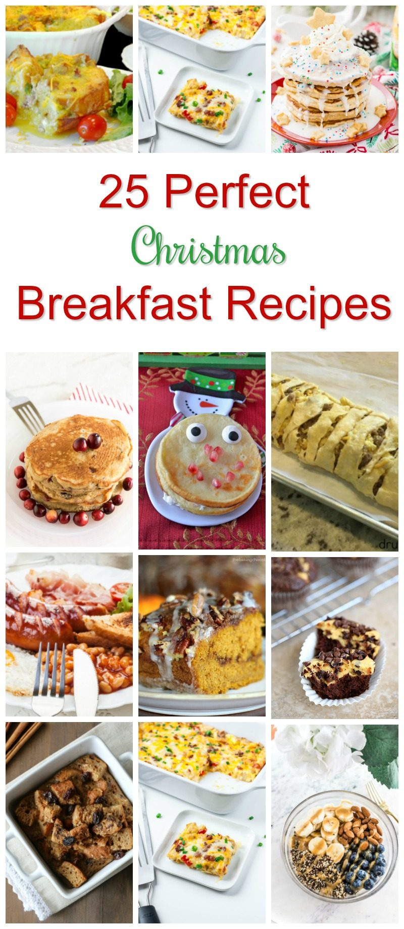 Wanna make Christmas breakfast extra special this year? Try one of these amazing recipes! Better yet, try a few and make a whole breakfast buffet!