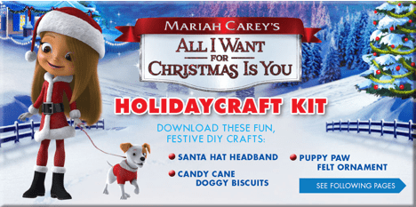 Cute Clips & Free Printables from Mariah Carey's All I Want For Christmas Is You