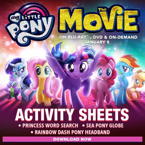 My Little Pony: The Movie Activity Sheets for Kids
