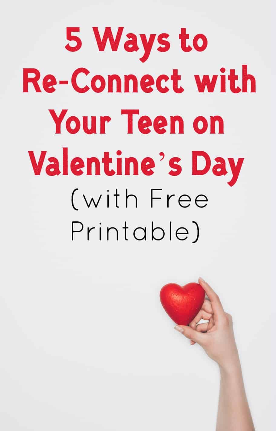 Spend Valentine's Day with your favorite person: your teen! If you're looking for fun ways to reconnect during the holiday, you'll love these ideas! Read on to learn more!