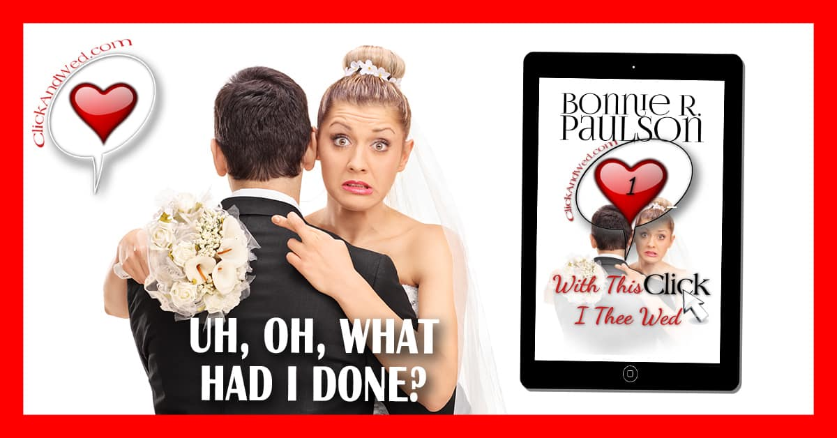 Bonnie Paulson's  ClickandWed.com series is the perfect fun romance series about love in the digital age. With this Click, I Thee Wed is the perfect start to a sweet romantic comedy series filled with laughs and tears, second chances, arranged marriages, and mail order brides with a contemporary twist.