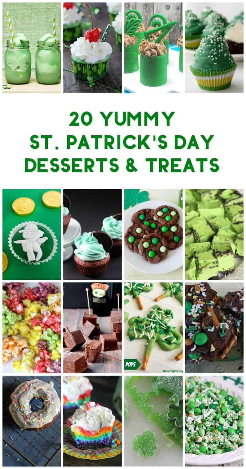 Yum! These 20 St. Patrick's Day desserts and treats are exactly what your sweet tooth needs right now! I dare you to try to choose a favorite!