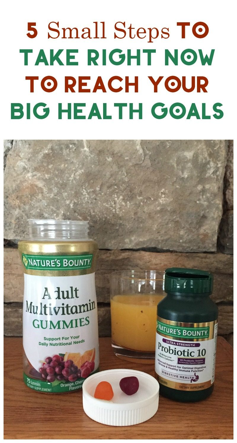 Want to reach BIG health goals? Take small steps and celebrate the little victories! Here are five things you can do right now that don't require a ton of effort but will help you take huge strides towards your goals!
