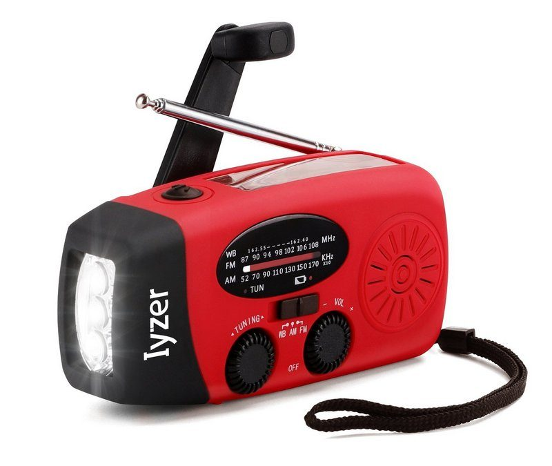 Keep a battery-operated radio handy for power outages!