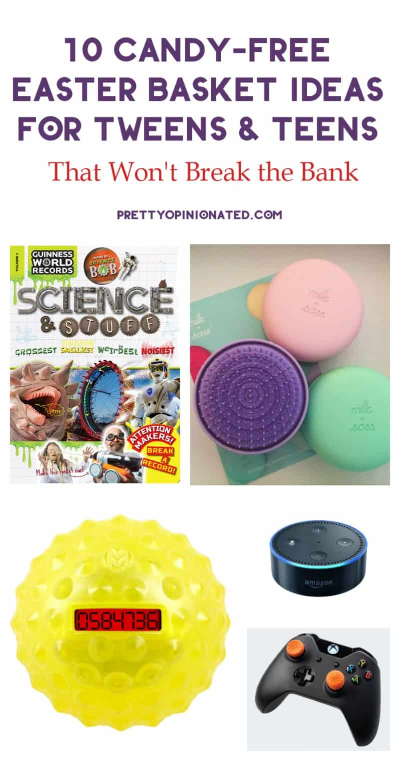 Wanna skip the sugar overload on Easter Sunday? Grab a few of these candy-free Easter basket ideas for tweens and teens! I promise, they won't break the bank!