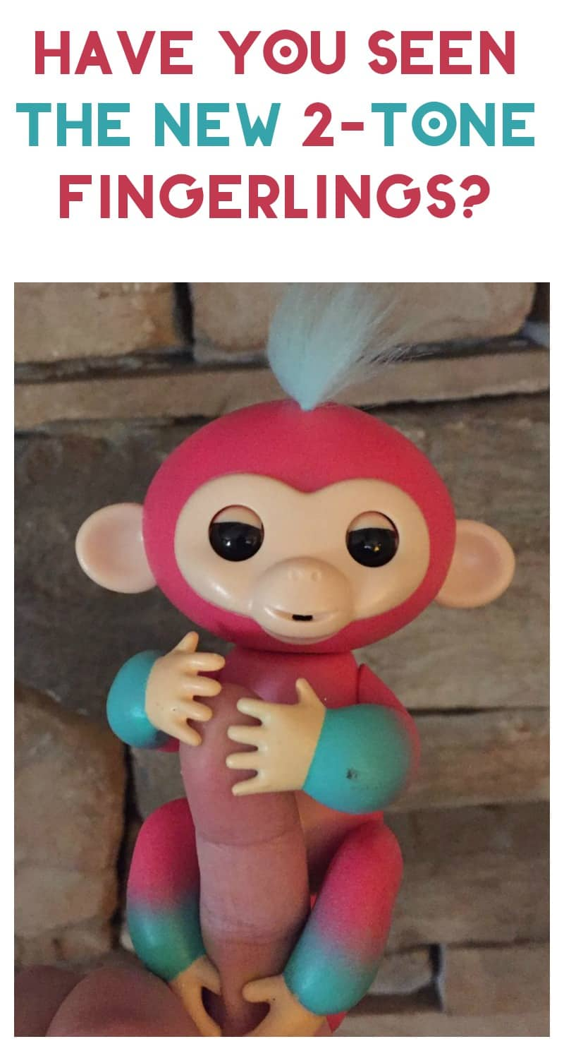 Have you seen the brand-new 2-tone Fingerlings Baby Monkeys? They are adorable!  Check out my review of Melon!