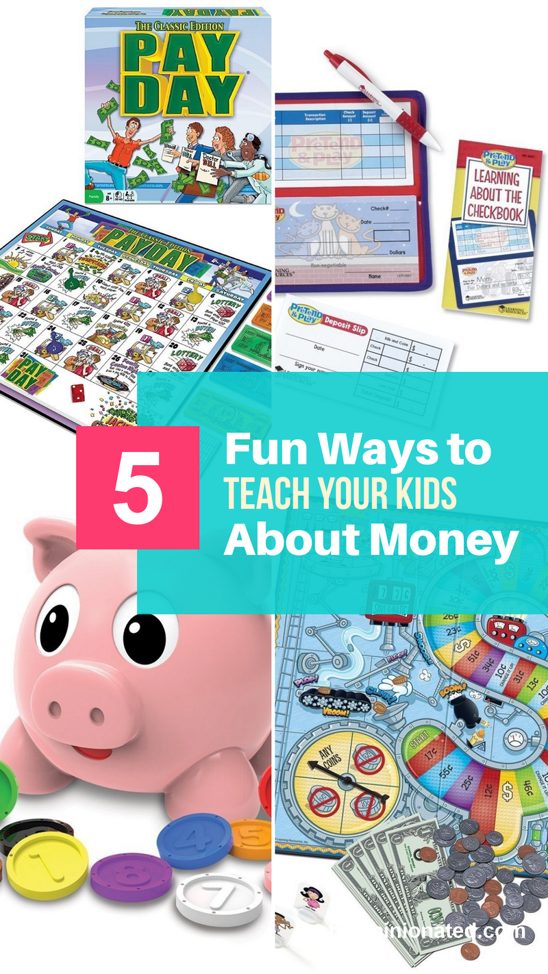 Looking for fun and easy ways to teach your kids about money? These five tips will help you encourage financial literacy in kids as young as two! Check them out, along with fabulous suggestions for toys and board games to really help drive home the lesson in an entertaining way!