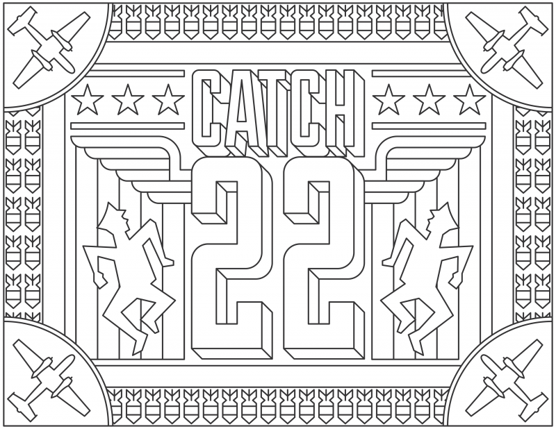 Catch 22 Grab 6 FREE Printable Adult Coloring Pages Inspired by Your Favorite Books!