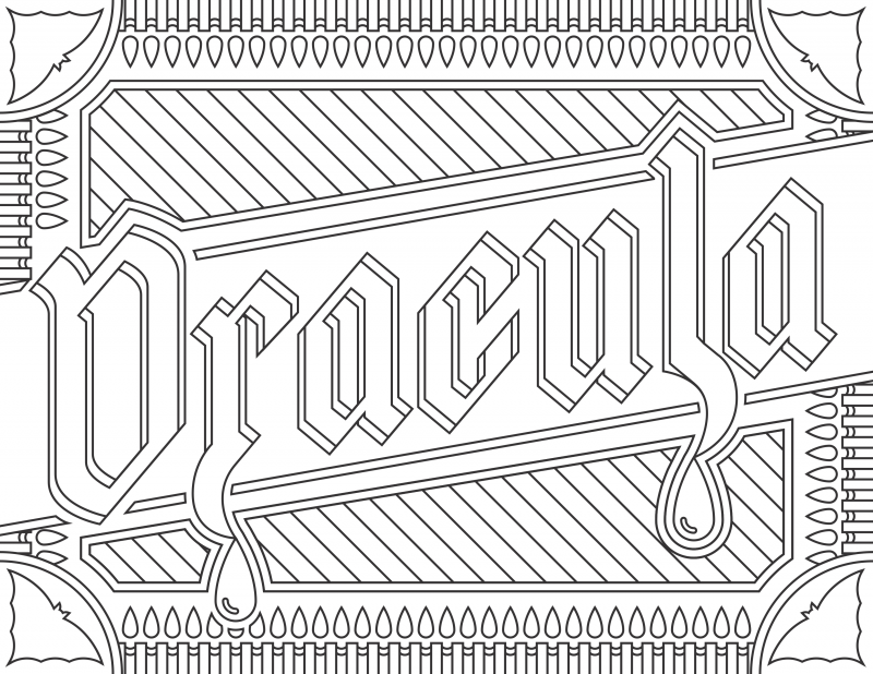 Dracula 2 Grab 6 FREE Printable Adult Coloring Pages Inspired by Your Favorite Books!