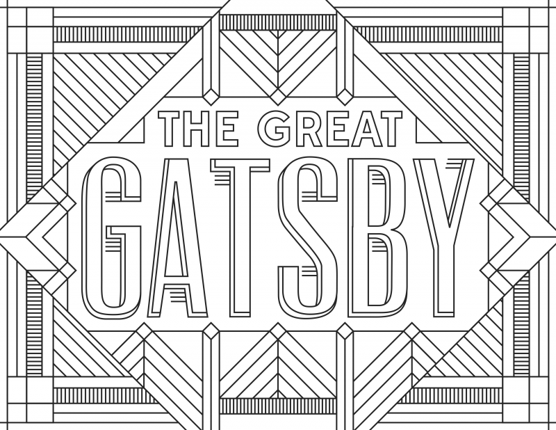 Gatsby Grab 6 FREE Printable Adult Coloring Pages Inspired by Your Favorite Books!