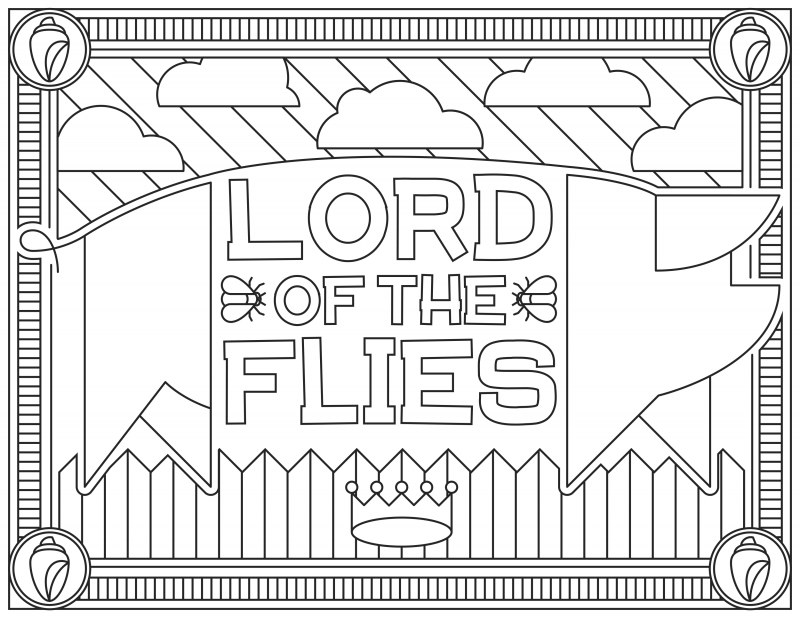Lord of the Flies Grab 6 FREE Printable Adult Coloring Pages Inspired by Your Favorite Books!