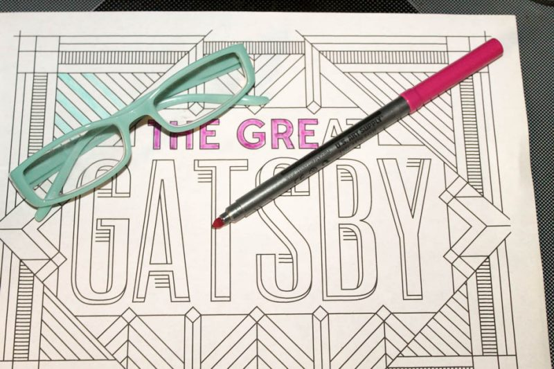 Readers Glasses Free Coloring Pages 2 of 2 Grab 6 FREE Printable Adult Coloring Pages Inspired by Your Favorite Books!