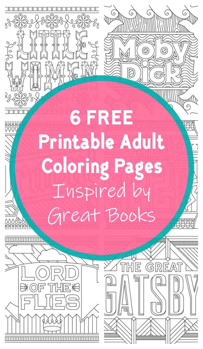 Grab these awesome FREE coloring pages from Catch 22, Dracula, The Great Gatsby, Little Women, Lord of the Flies, and Moby Dick!
