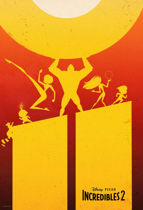 Incredibles 2 Sillouette Poster
