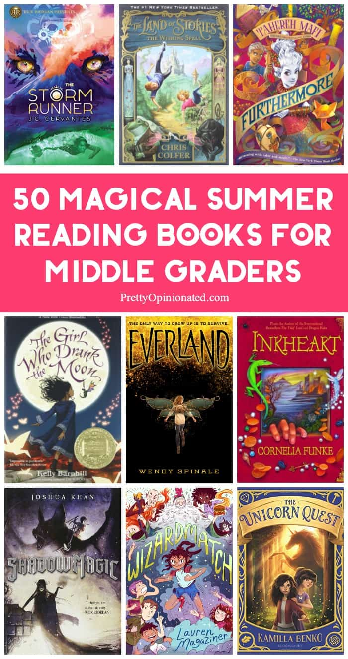 Send your kids on a magical adventure through literature with these 50 magic-themed summer reading books for middle graders! From witches and wizards to fantastic beasts, there's something for every tween & teen!