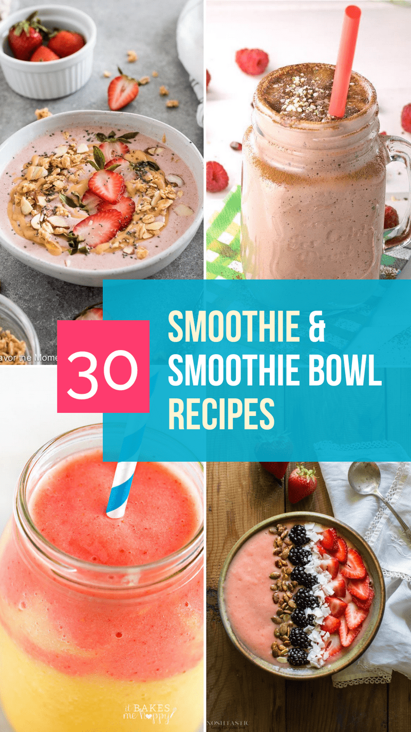 Need some ideas for new and delicious smoothie recipes? Check out some of my favorites! Don\'t miss the special section on how to make smoothie bowls, plus some yummy ideas to try!