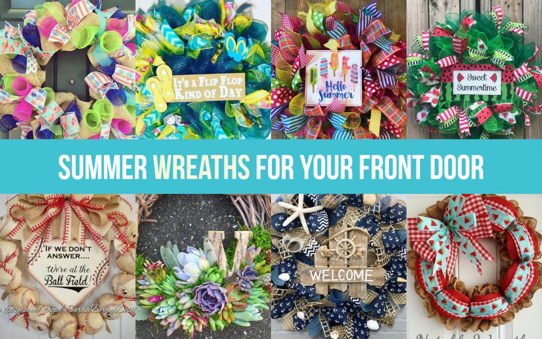 20 Beautiful Handmade Summer Wreaths for Your Front Door