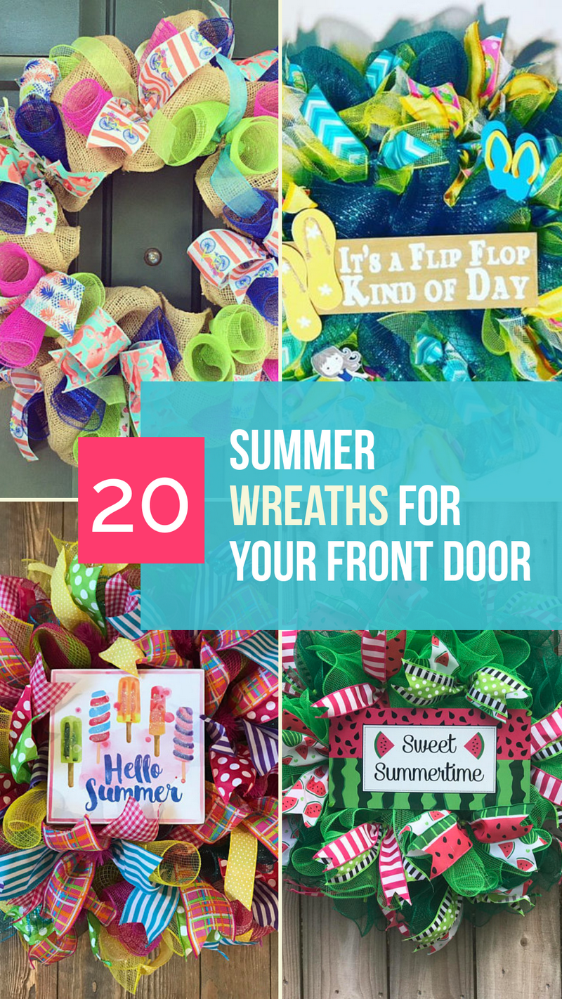 Looking for cute summer wreaths for your front door? Sure, you could make your own, but for those of us short on time (and crafting talent), these 20 cute wreaths from Etsy are just perfect! Check them out!