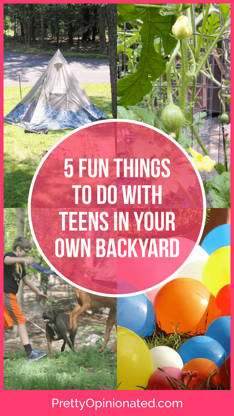 Looking for fun ways to get your teens outside more this summer? Check out these 5 fun things you can do right in your own backyard!