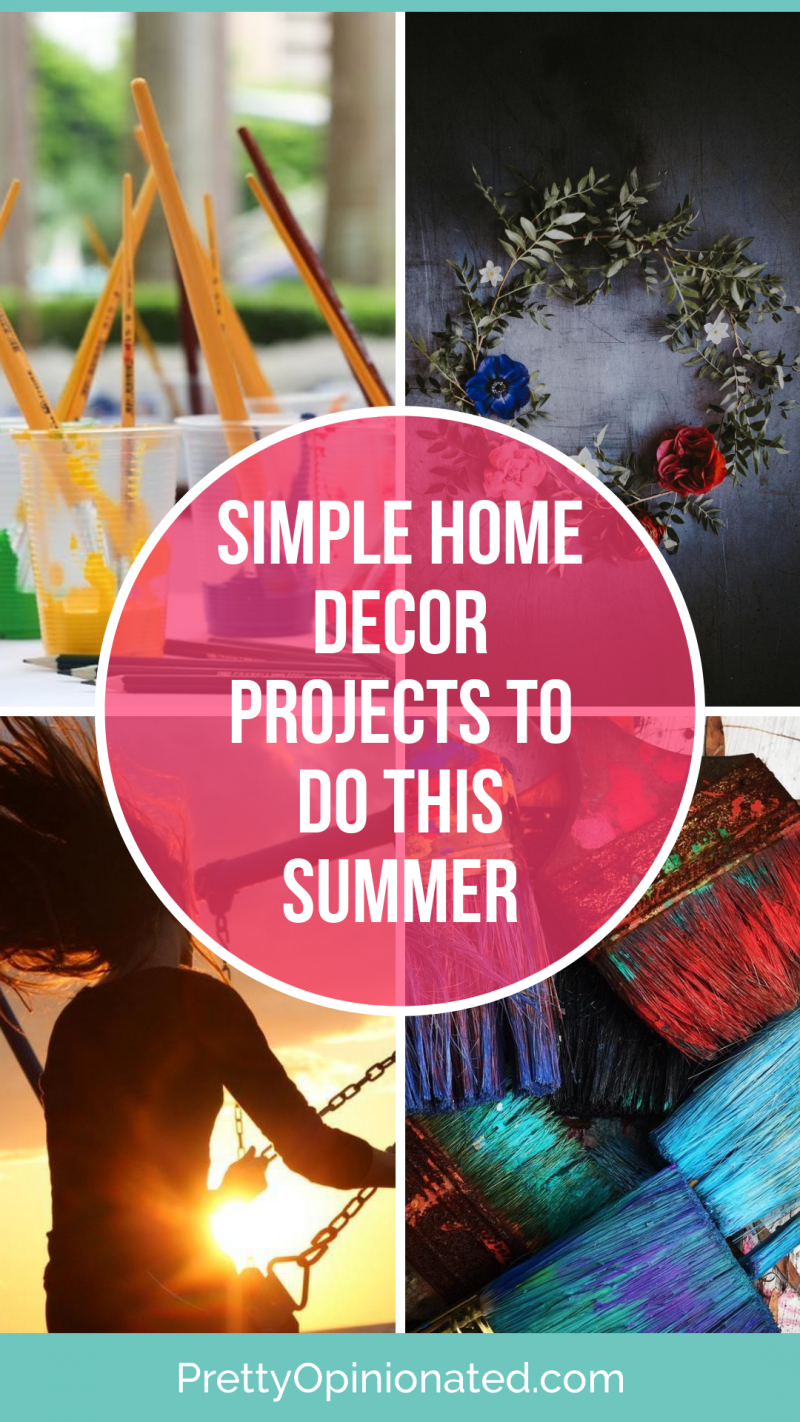 Looking for simple ways to spruce up your home this summer? Check out these super easy DIY home decor & improvement projects that you can do as a family!