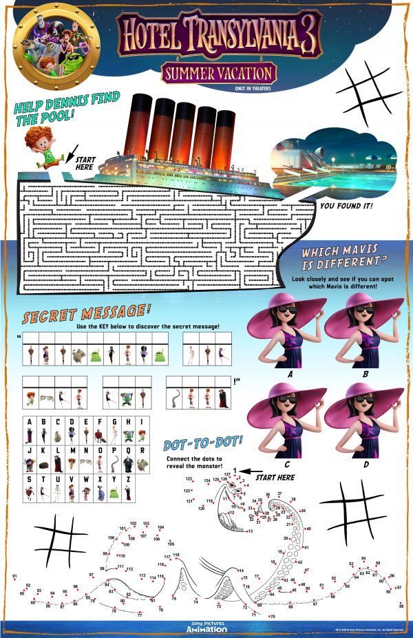 hotel transylvania 3 dom HTR3 Activity Sheet lm v11 rgb Hotel Transylvania 3: Summer Vacation Activity Sheets + How to Save $5 Off Your Ticket!