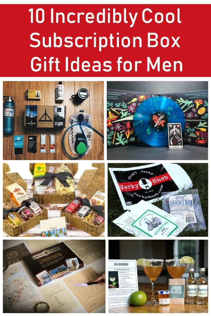 Subscription boxes are my go-to gift idea for just about everyone that\'s difficult to buy for, but it seems like there aren\'t as many for men as for women & kids. If you\'re looking for an awesome gift for guys, check out these cool subscriptions boxes that are geared more towards the men in our lives!