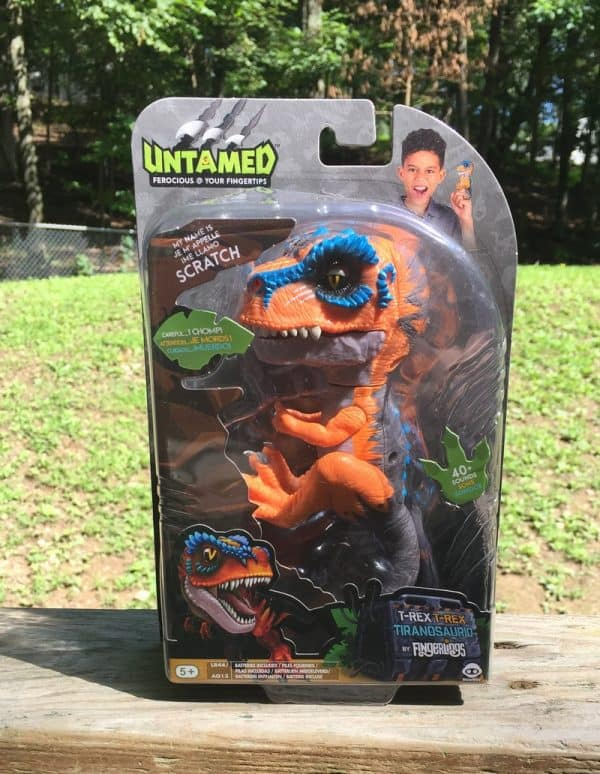 Untamed Rex in Package Check Out WowWee's NEW Untamed T-Rex Dinosaur Fingerling! #FerociousFriday