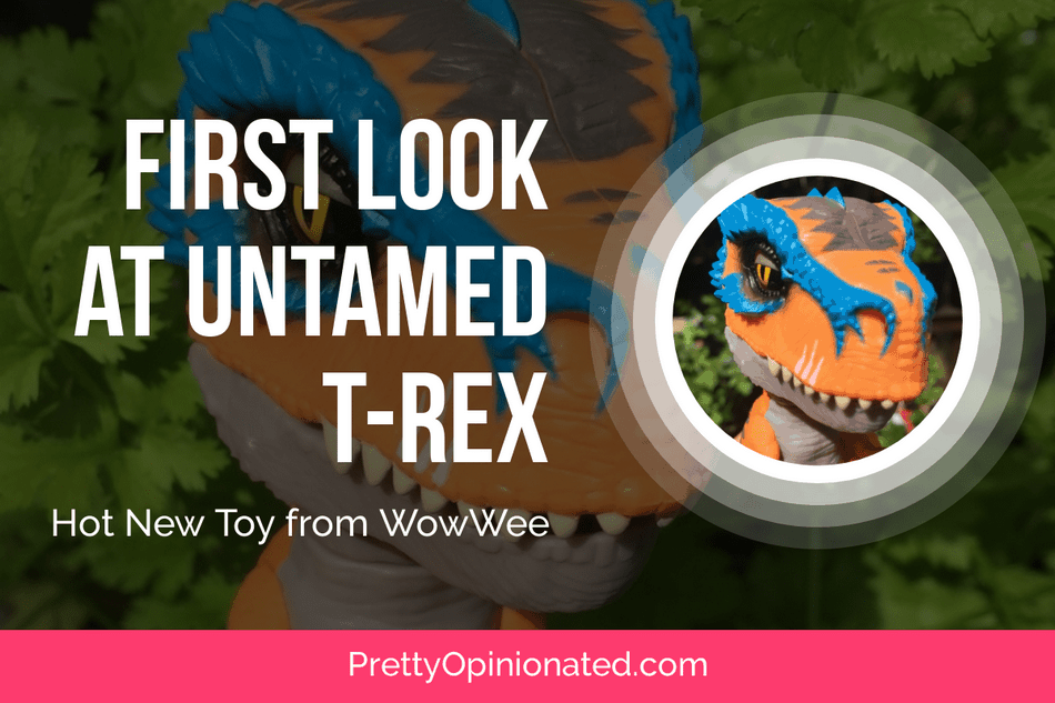 Check Out WowWee's NEW Untamed T-Rex Dinosaur Fingerling! #FerociousFriday