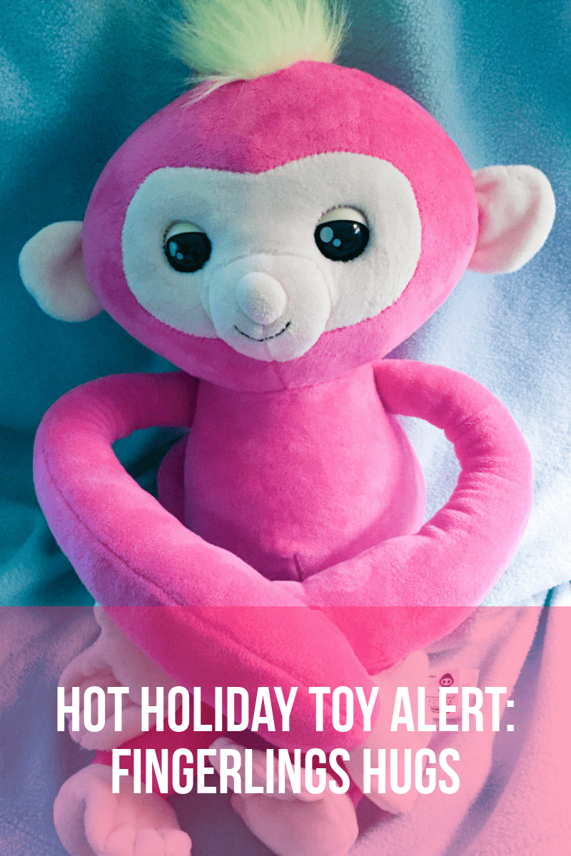 If you think the tiny Fingerlings Monkeys from WowWee are cute, wait until you wrap your arms around a Fingerlings Hugs monkey! I dare say these are the cutest WowWee products to date! Read on for a peek at this HOT new toy hitting stores today! Here's a tip: you'll want to grab it asap, especially if you want to give it as a gift this holiday season!