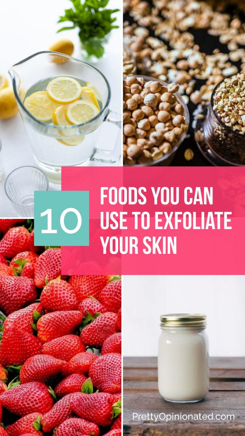 Check out my top 10 favorite foods that you can use to exfoliate your skin + 5 easy DIY sugar scrubs that are gentle enough for your face!