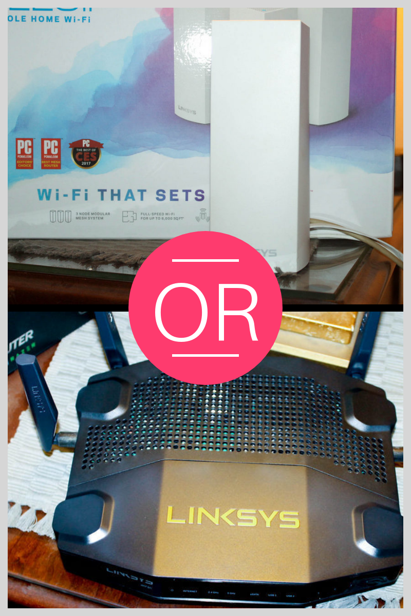 Considering getting a router, but not sure which one to choose? I spent the last month trying out the Linksys Velop and the WRT32X Gaming Router! Check out the pros and cons of each one, then find out which is my favorite!