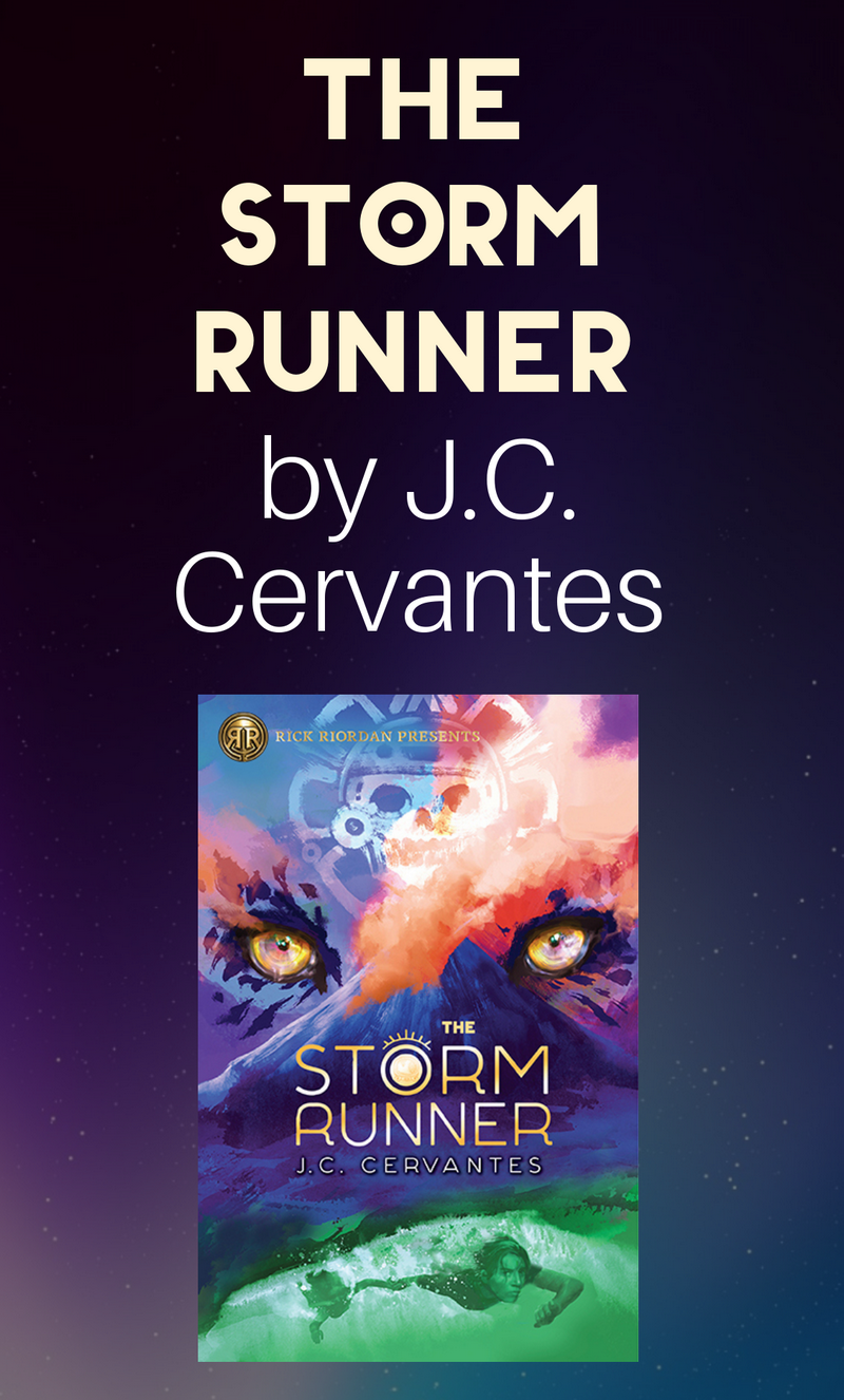 How can one boy with a limp stop the Maya god of death, disaster, and darkness from destroying the world? That's what we'll find out in J.C. Cervantes' stunning new book, The Storm Runner.