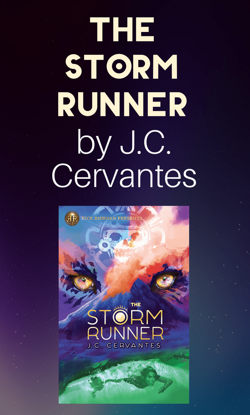 How can one boy with a limp stop the Maya god of death, disaster, and darkness from destroying the world? That\'s what we\'ll find out in J.C. Cervantes\' stunning new book, The Storm Runner. Check it out!