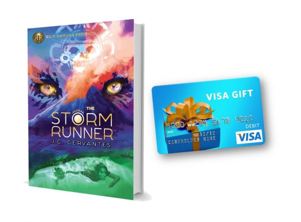 Gift from the Gods Giveaway: A Copy of The Storm Runner and a $100 Visa Gift Card