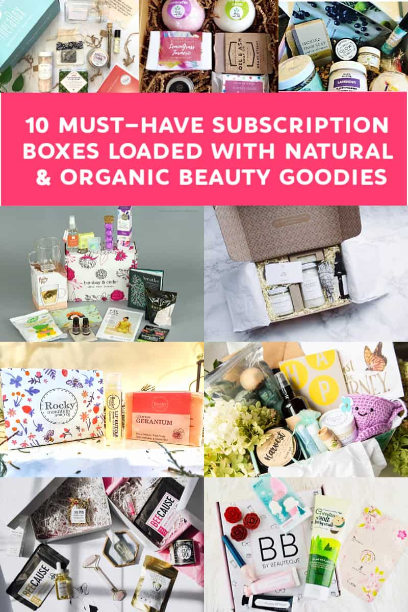 If you\'re having a hard time wading through the long, long list of organic beauty boxes, I\'ve got you covered! Read on for ten amazing subscription boxes that you\'ll love!