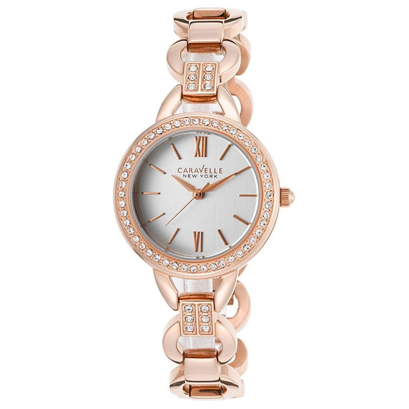 Caravelle 44L163 New York Crystal Bezel Rose Gold Steel Bracelet Watch 5 Brilliant Ways to Make a Statement with Watches