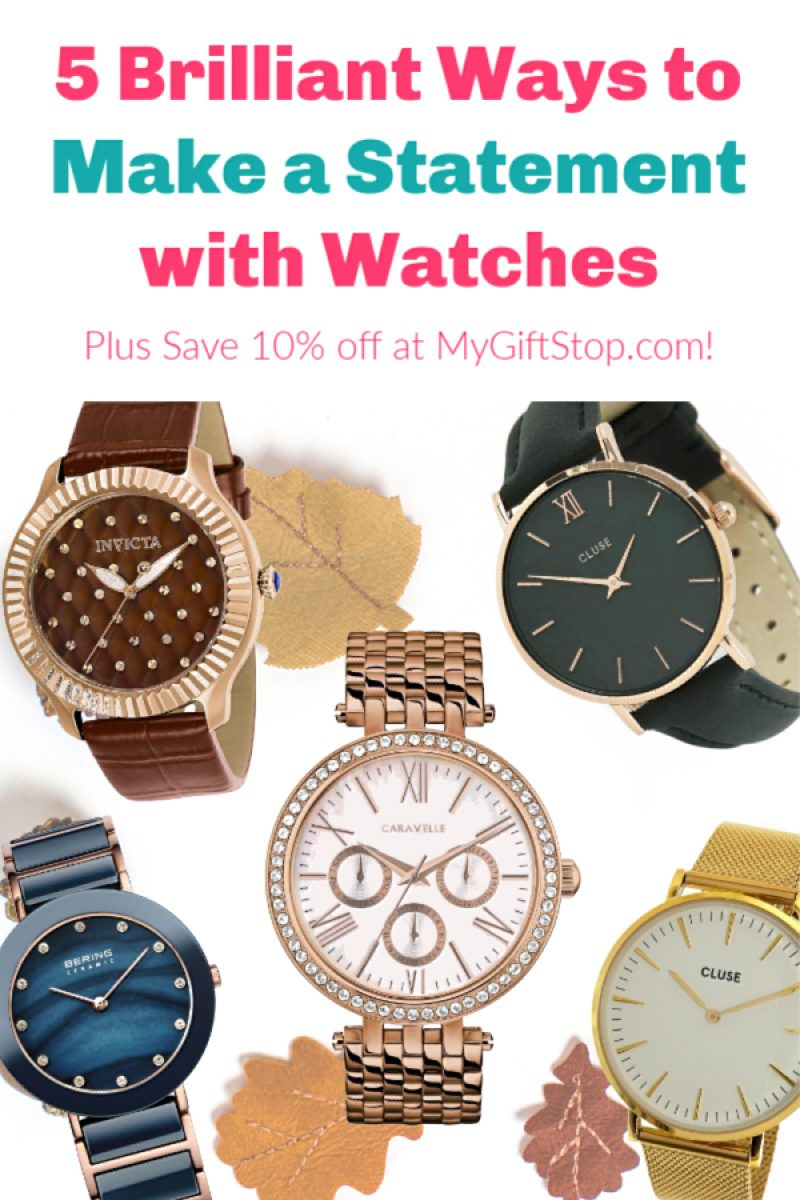 Looking for a statement piece for your fall wardrobe that's actually practical? Why not treat yourself to a new watch? Check out my favorites, plus find out how you can save 10% off your entire order at MyGiftStop.com!
