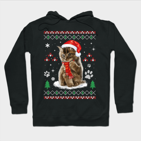 Ugly Christmas Sweater Cat Shirt Gift Hoodie