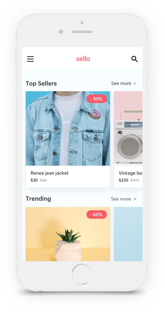 Sign up for Sello and you'll be notified when your favorite Shopify store has new coupon. The app is launching soon, so sign up now to be notified when it's available.