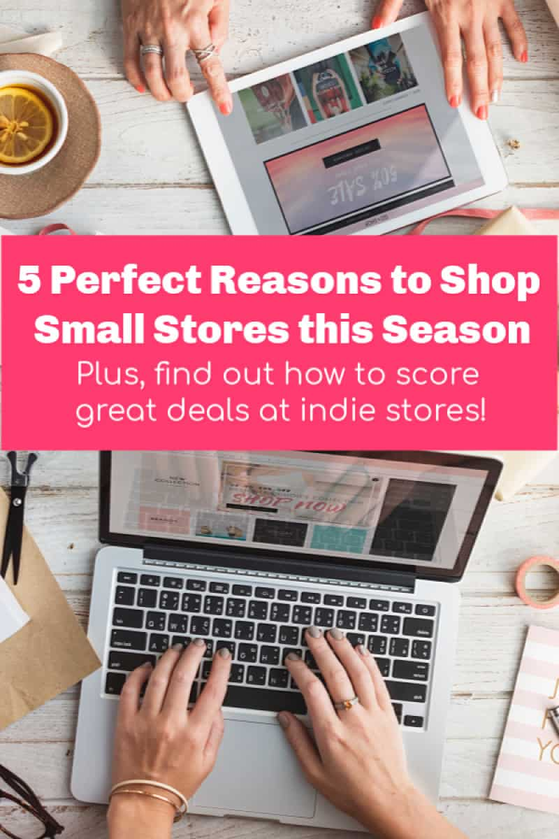 If you're only shopping at major retailers this holiday season, you're missing out on some amazing opportunities! Check out these 5 reasons why you should be shopping small, too!