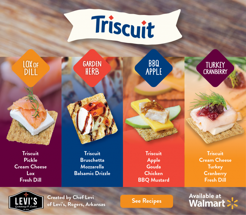 Want to make amazing appetizers for your holiday parties that make you look like a sheer genius in the kitchen? These Triscuit recipes from Chef Levi are super simple (even I could make them, and that's saying something) yet oh-so classy and clever!