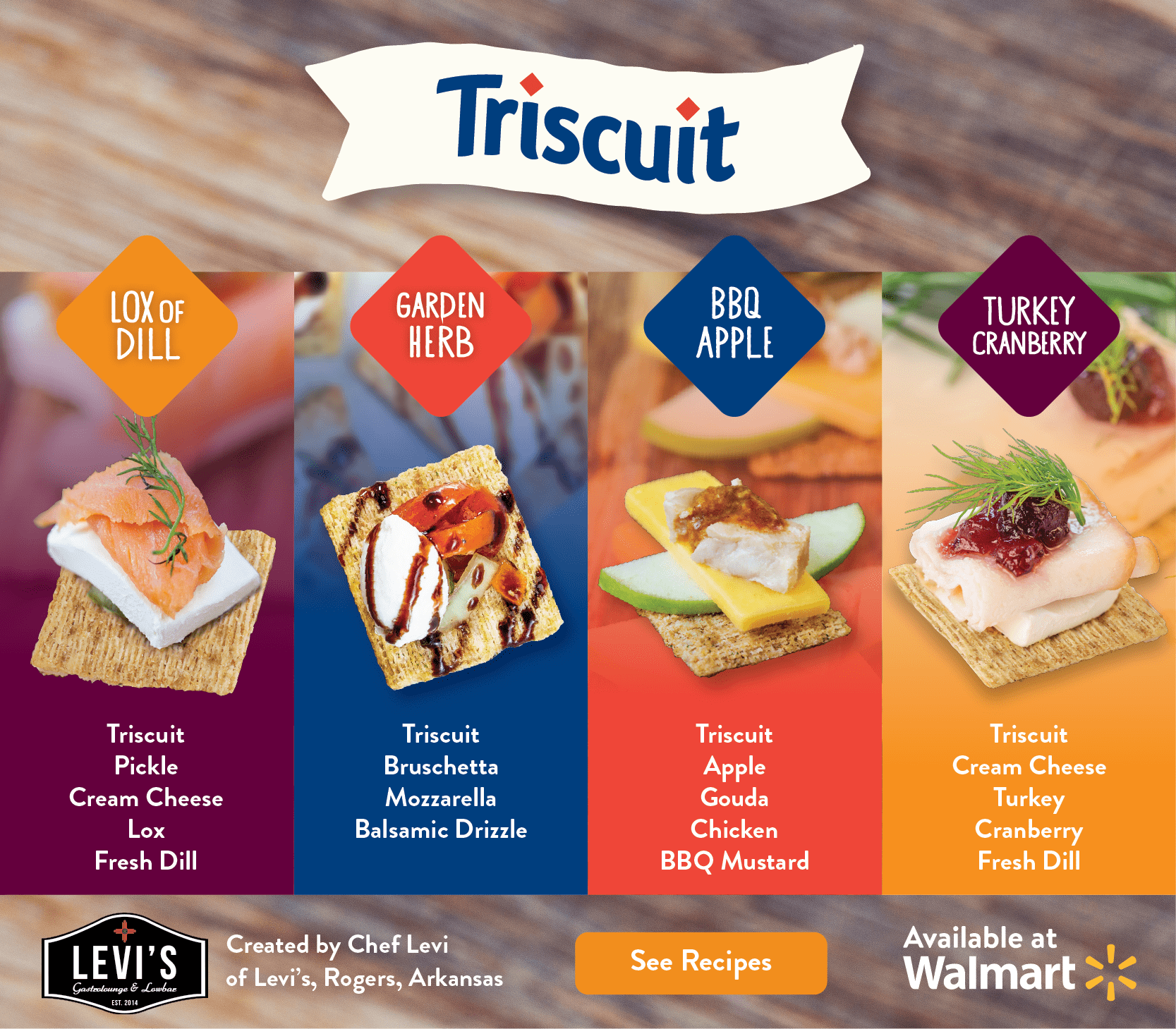 Holiday Party Appetizers Made Easy with Triscuit & Chef Levi (+ Walmart Gift Card Giveaway!)