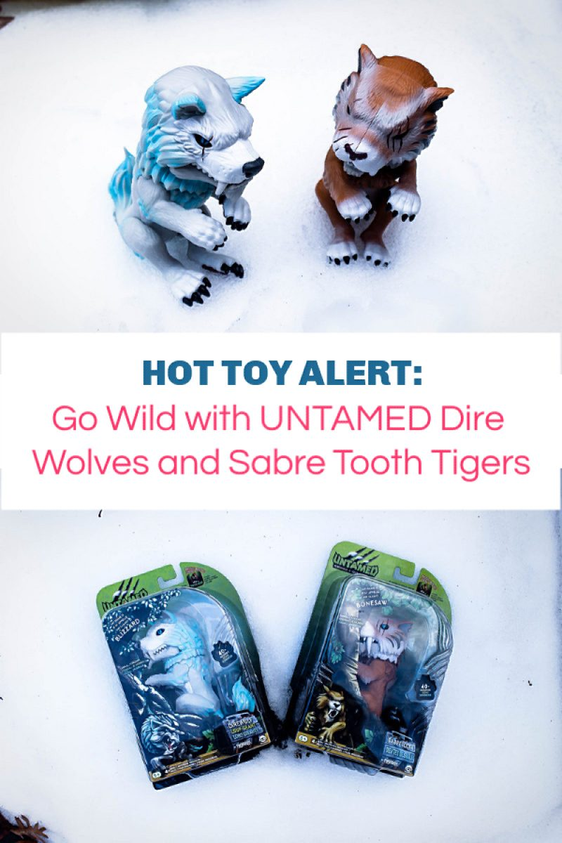 Go Wild with UNTAMED Dire Wolves and Sabre Tooth Tigers