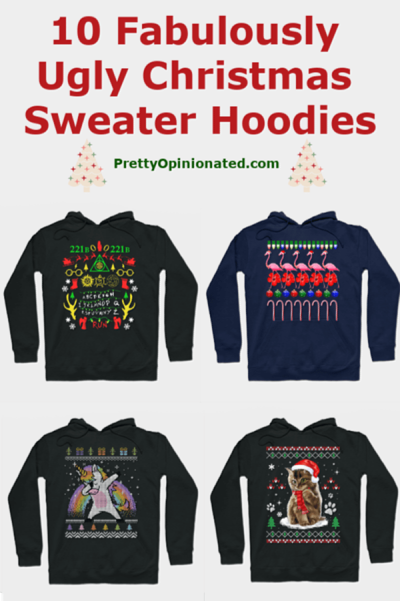 Forget ugly Christmas sweaters! I\'d rather cozy up in an ugly Christmas hoodie! Holiday sweaters are way too itchy (and, let\'s be honest, expensive for something that you\'ll wear once or twice). Hoodies are so much more versatile, don\'t you think? Check out a few of my favorites to wear this season!